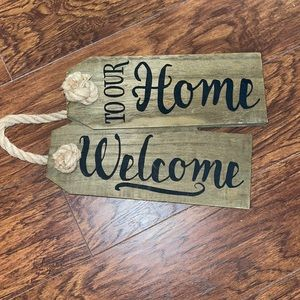 Kirkland's Welcome to our home sign